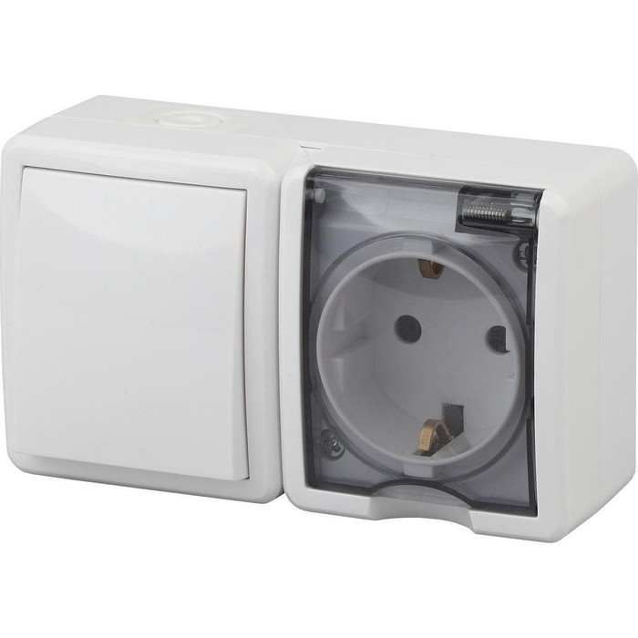 Блок розетка-выключатель ЭРА 11-7401-01