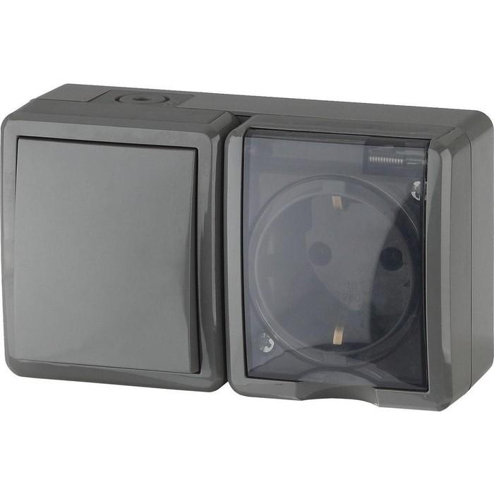 Блок розетка-выключатель ЭРА 11-7401-03