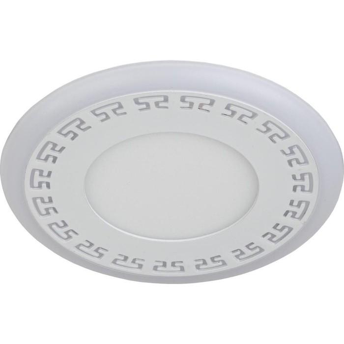 Фото - Встраиваемый светильник ЭРА DK LED 12-6 WH встраиваемый светильник эра dk led 12 6 bl