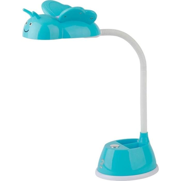 Настольная лампа ЭРА NLED-434-6W-BU настольная лампа светодиодная эра nled 431 5w bu 5 вт