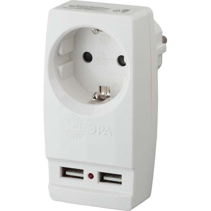 Сетевой разветвитель ЭРА SP-1e-USB-W