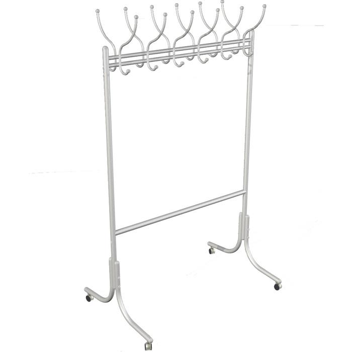 Вешалка напольная Мебелик М 11 металлик на колесах
