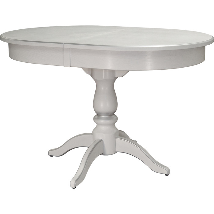 Стол обеденный Мебелик Тарун 4 белый/серебро 120/160x84