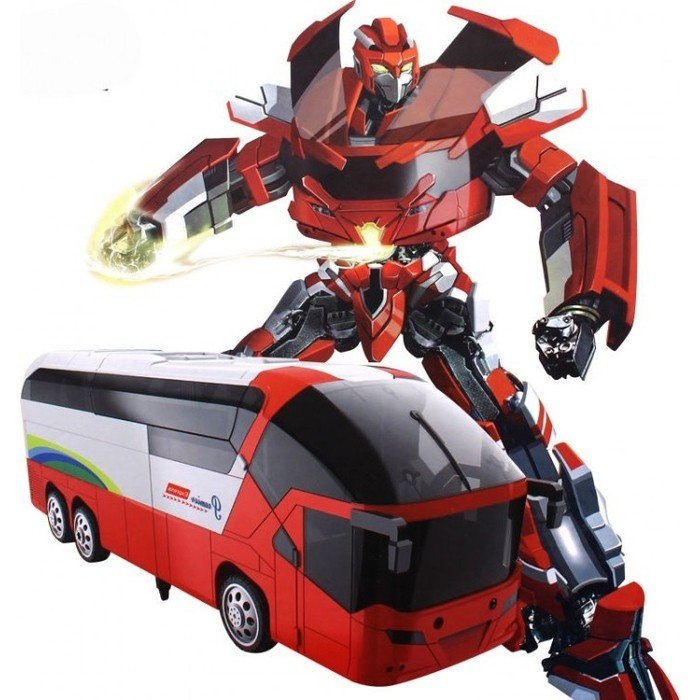 Радиоуправляемый трансформер MZ Model Красный автобус 1:14 - 2372P-R