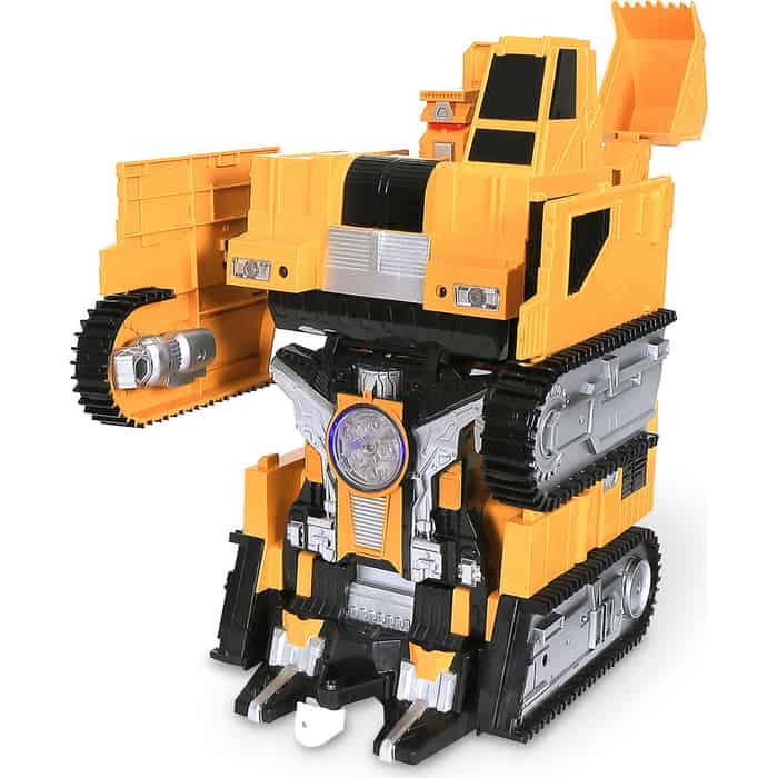 Радиоуправляемый робот-трансформер MZ Model Экскаватор 1:14, стреляет присосками - 2383PF