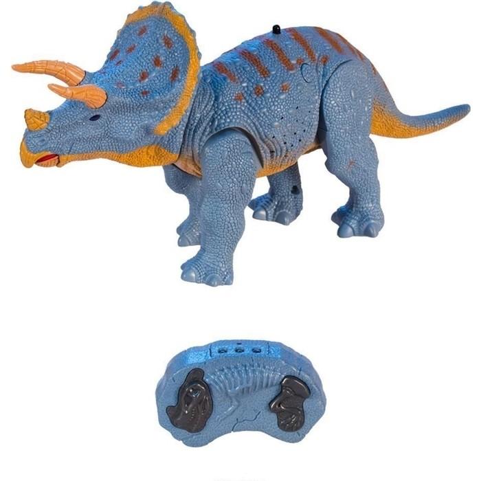 Фото - Радиоуправляемый динозавр CS Toys Трицератопс - RS6137A радиоуправляемый динозавр cs toys тираннозавр rs6124a
