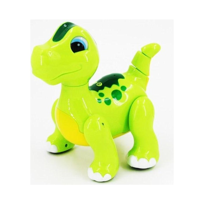 Фото - Радиоуправляемый робот-динозавр Zhorya интерактивный зеленый - 2056A радиоуправляемый робот zhorya интерактивный белый кот 2059