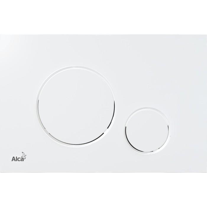 Кнопка смыва AlcaPlast Thin белый (M670)