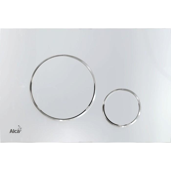 Кнопка смыва AlcaPlast Thin хром-глянец (M671)