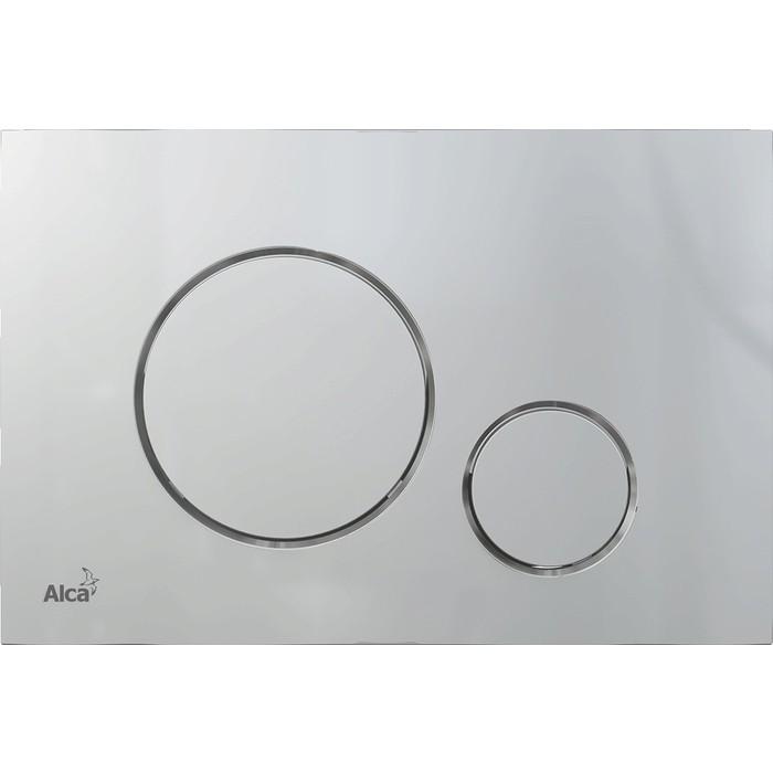Кнопка смыва AlcaPlast Thin хром-матовый (M672)