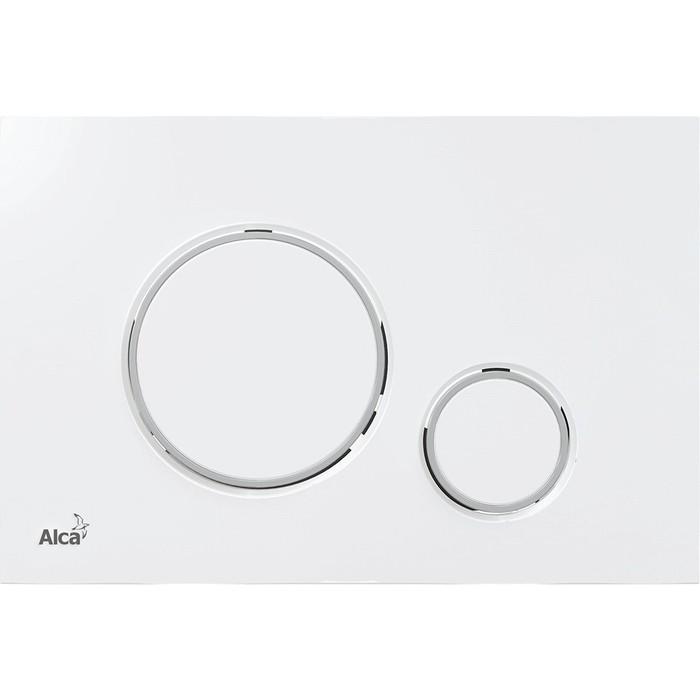 Кнопка смыва AlcaPlast Thin белый (M770)