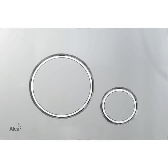 Кнопка смыва AlcaPlast Thin хром-матовый (M772)