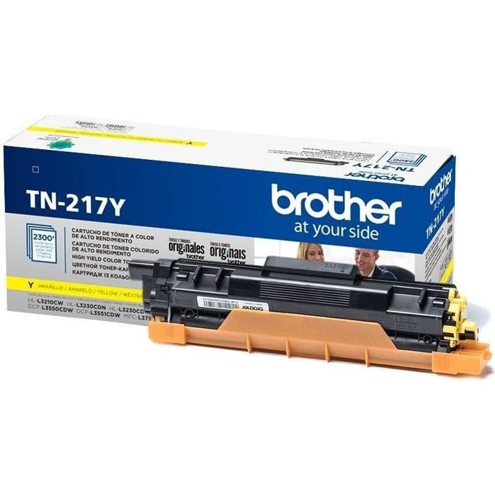 Картридж Brother TN-217Y жёлтый 2300 стр.