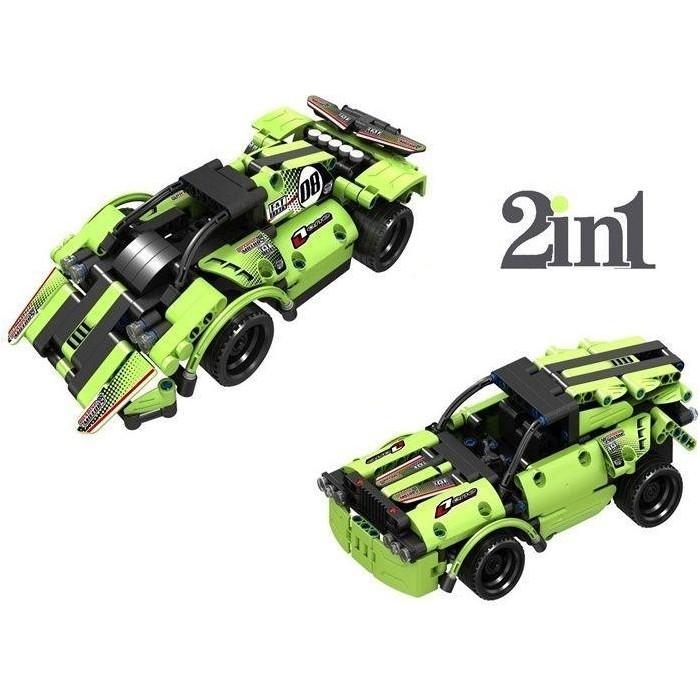 Конструктор QiHui Mechanical Master 2 в 1 Гоночные автомобили (335 деталей)