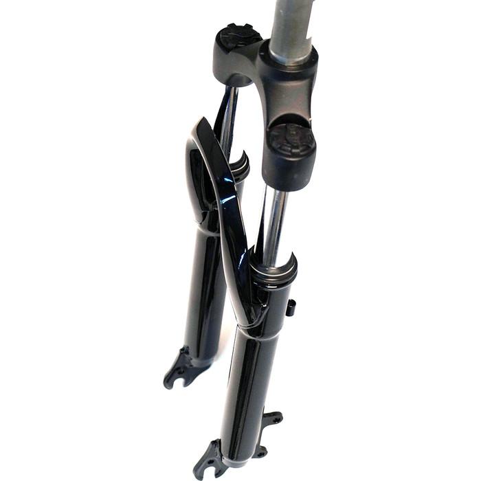 Вилка велосипедная EASING ES 245-2 24x1.1\8 ход 60mm, пружина, предварительное сжатие, стальная, черная, 2,55кг