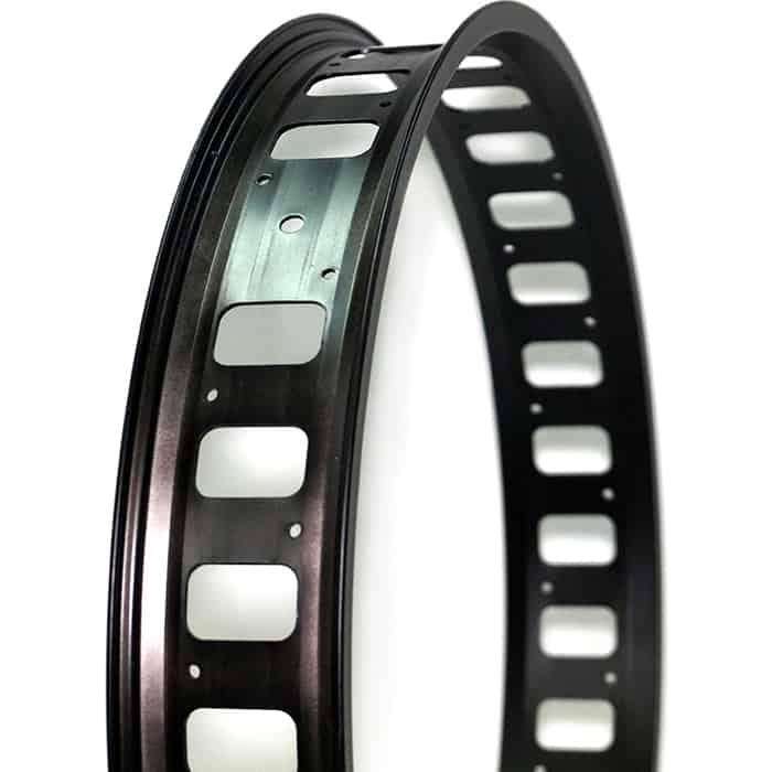 Колесо NANDUN обод MX-80S 26x32H,80mm (Fatbike) черный с отверстиями