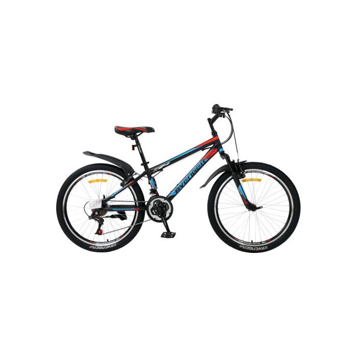 Велосипед AVENGER 24 C241, черный/красный, 13 (2020)