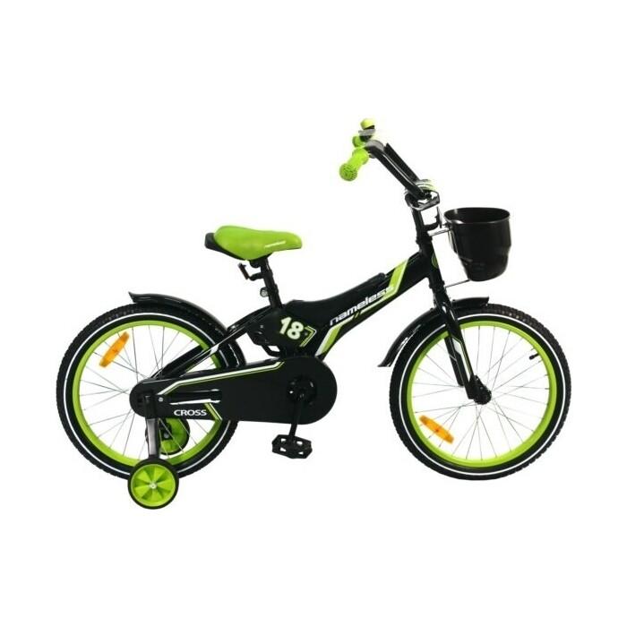 Велосипед Nameless 18 CROSS, черный/зеленый (2020)