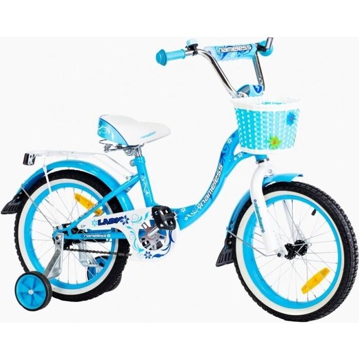 Велосипед Nameless 18 LADY, голубой/белый (2020)