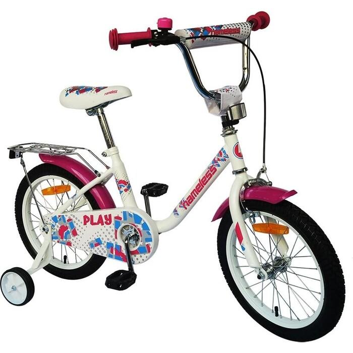 Велосипед Nameless 18 PLAY, белый/фиолетовый (2020)