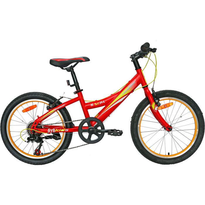 Велосипед Nameless 20 S2300, красный/желтый, 11 (2020) универс. рама