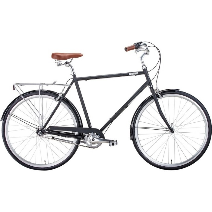 Велосипед Bear Bike Лондон (рост 580 мм) 2018-2019, черный мат., RBKBB9000051