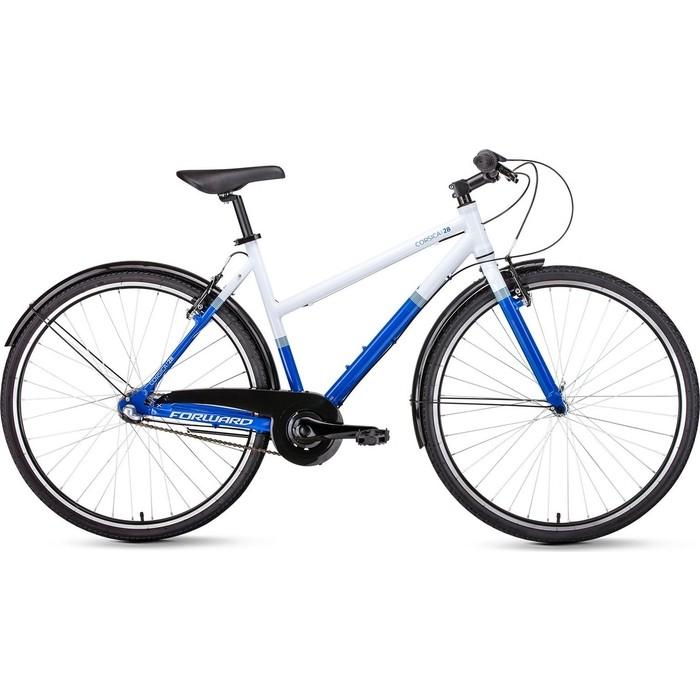 Велосипед Forward CORSICA 28 (рост 500 мм) 2018-2019 (белый/синий, RBKW9Y683002)