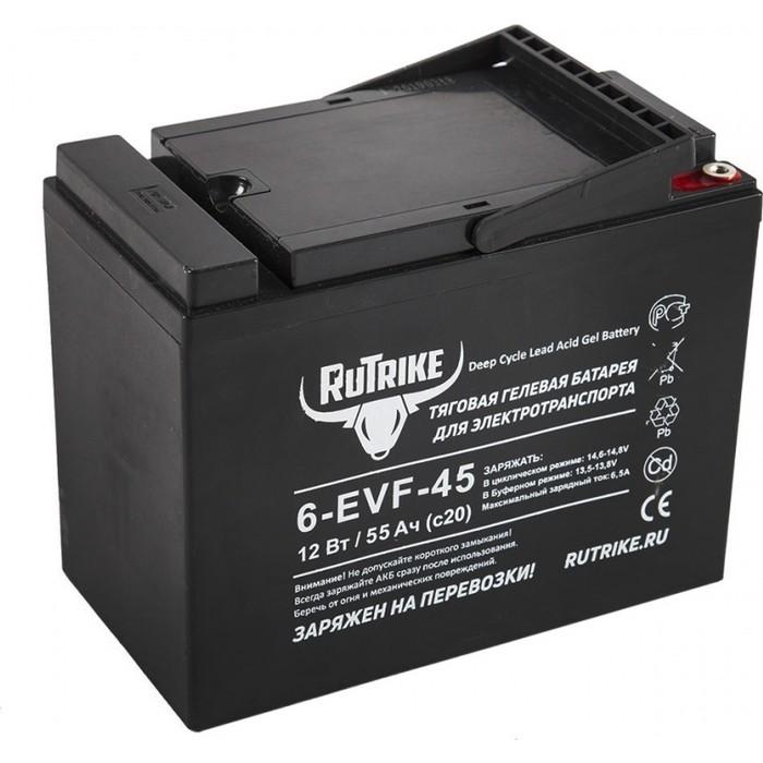 Аккумулятор Rutrike Тяговый гелевый 6-EVF-45 (12V45A/H C3)