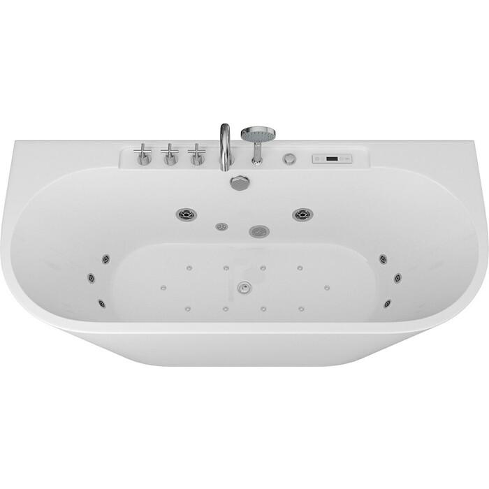 Акриловая ванна Grossman 170x80 с каркасом, гидромассажная (GR-17075-2317080)