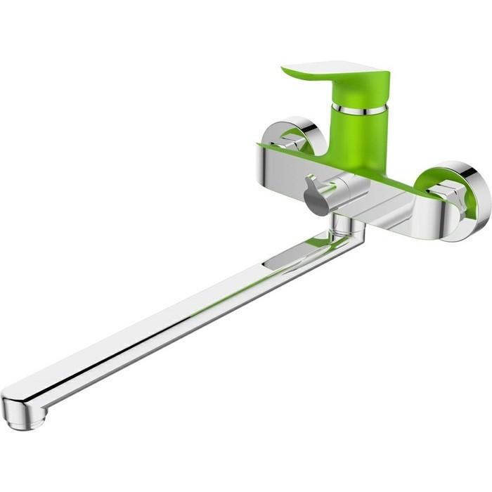 Смеситель для ванны Devida Gemma-Grass с поворотным изливом, зелёный (DVS1423-15G)