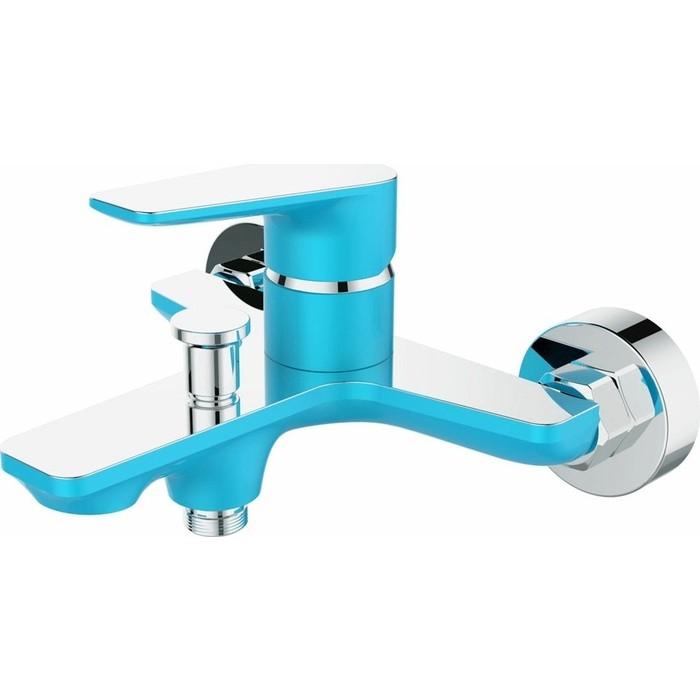 Смеситель для ванны Devida Viva-Sky с изливом, синий (DVS0824-11S)