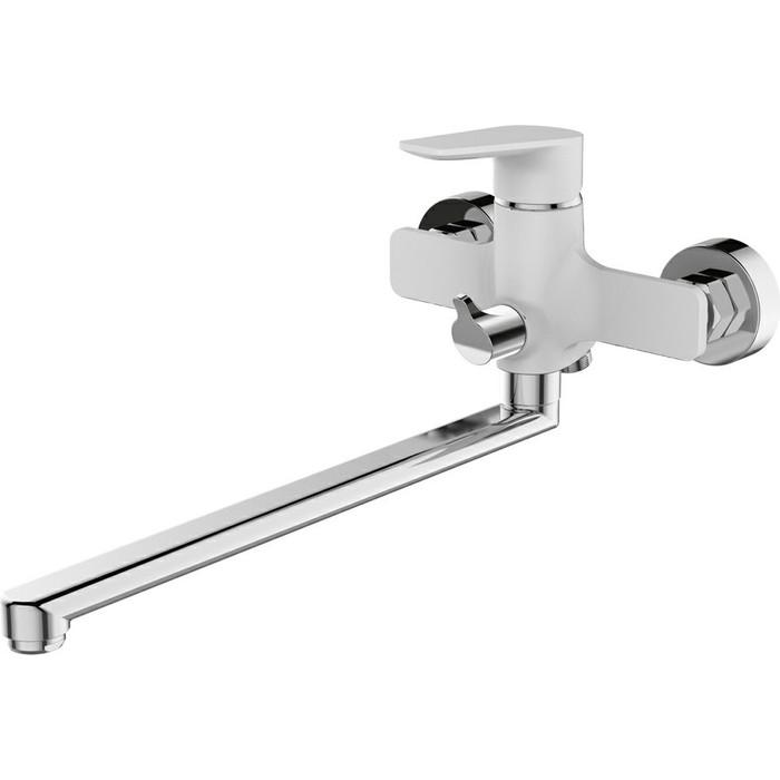 Смеситель для ванны Devida Viva-White с поворотным изливом, белый (DVS0823-11W)