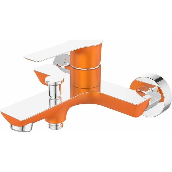 Смеситель для ванны Devida Zutto-Orange с изливом, оранжевый (DVS1224-14O)