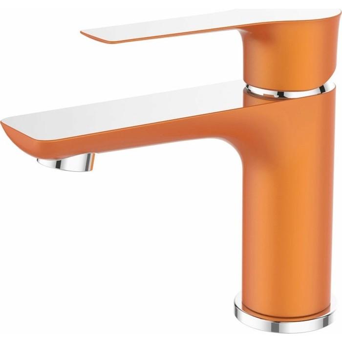 Смеситель для раковины Devida Zutto-Orange на гайке, оранжевый (DVS1243-14O)