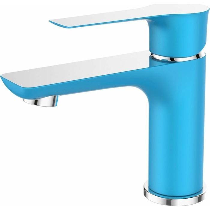 Смеситель для раковины Devida Zutto-Sky на гайке, синий (DVS1243-14S)