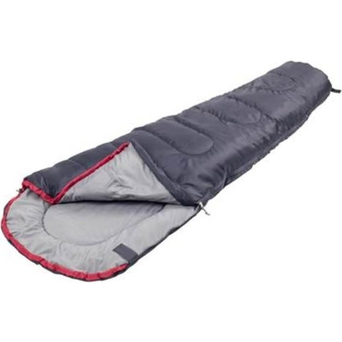 Спальный мешок Jungle Camp Trek JR, левая молния, цвет антрацит, красный 70911 (Детский)