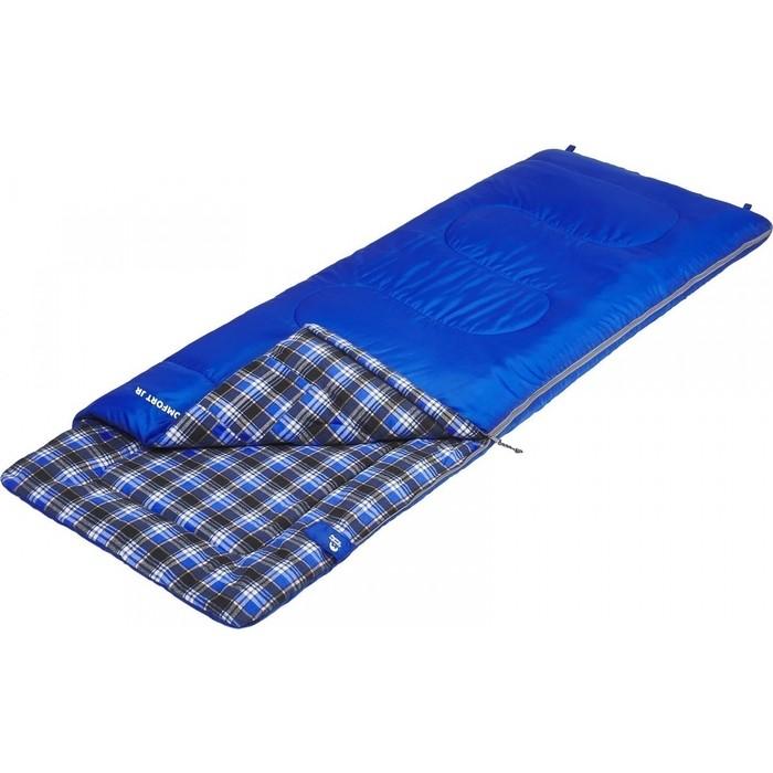 Спальный мешок Jungle Camp Cosmic Comfort JR, с фланелью, подголовником, цвет синий 70917