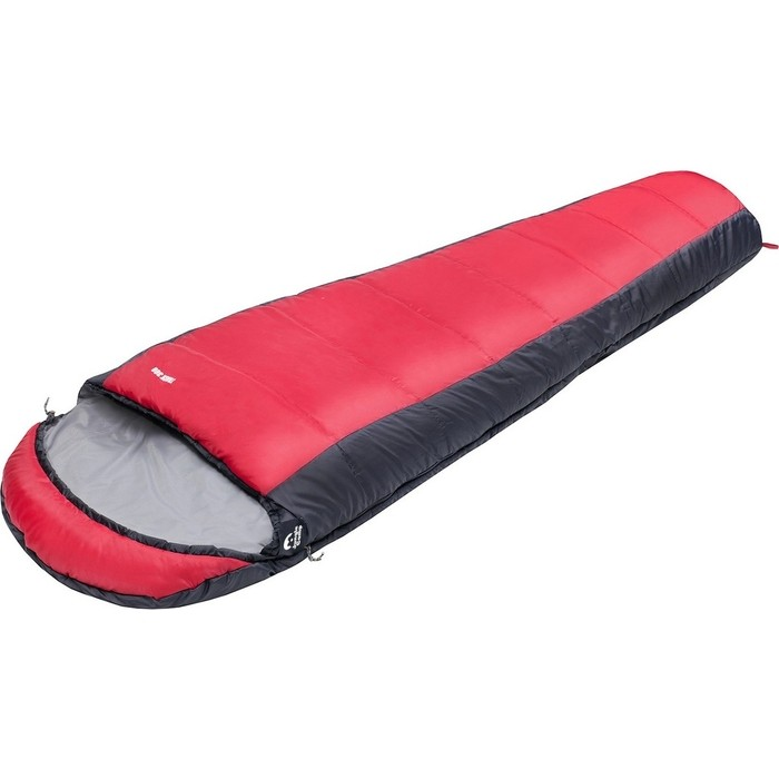 Спальный мешок Jungle Camp Track 300, трехсезонный, левая молния, цвет серый, красный 70925