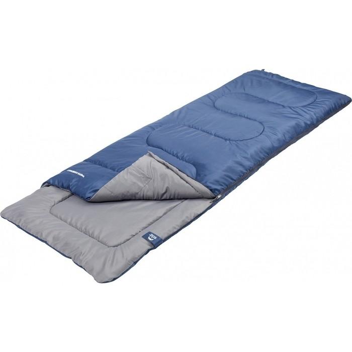 Спальный мешок Jungle Camp Camper Comfort, с подголовником, левая молния, цвет синий 70933
