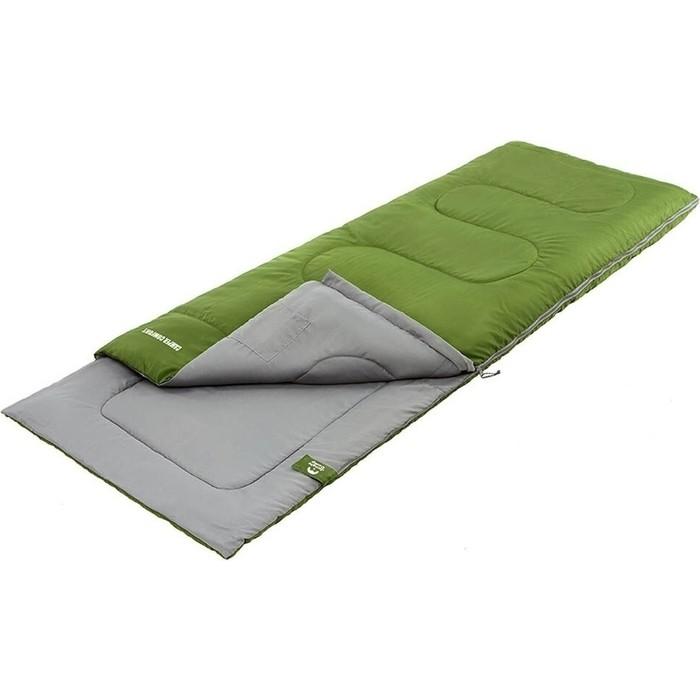 Спальный мешок Jungle Camp Camper Comfort, с подголовником, левая молния, цвет зеленый 70934