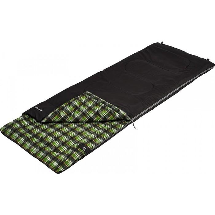 Спальный мешок Jungle Camp Alboro, с фланелью, подголовником, цвет черный 70952