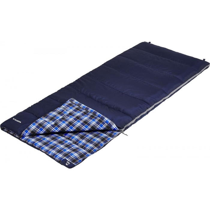 Спальный мешок Jungle Camp Norfolk, с фланелью, левая молния, цвет синий 70953