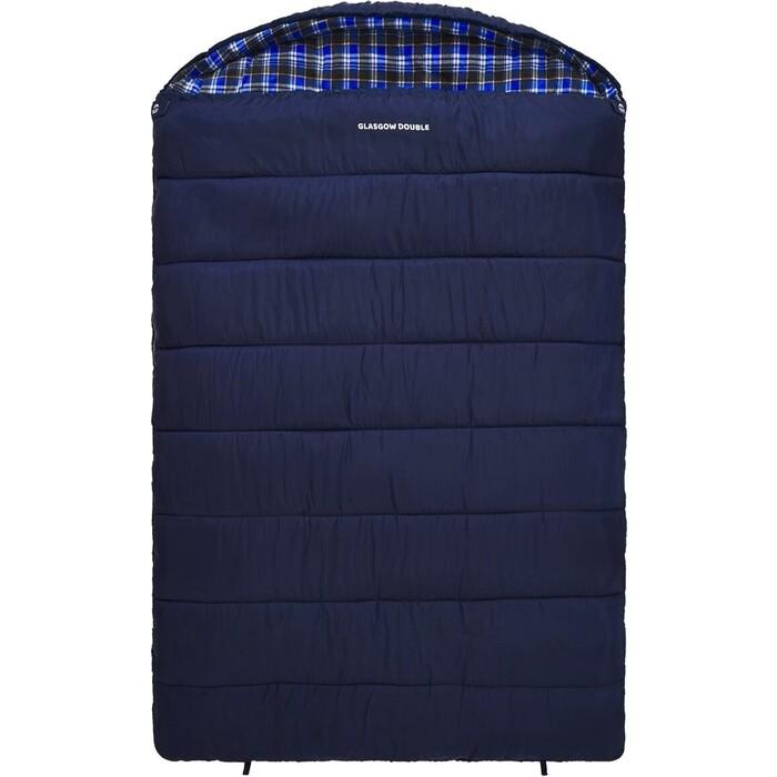 Спальный мешок Jungle Camp Glasgow Double, двухместный, с фланелью, цвет синий 70962