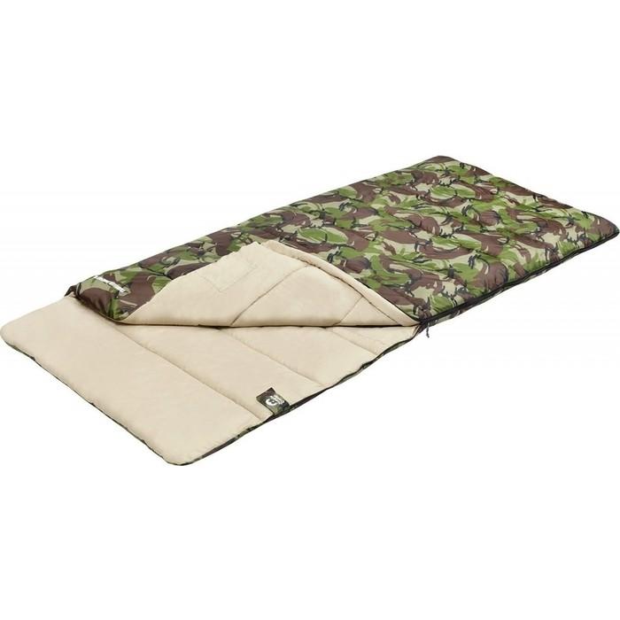 Спальный мешок Jungle Camp Traveller Comfort XL, широкий, левая молния, цвет камуфляж 70978