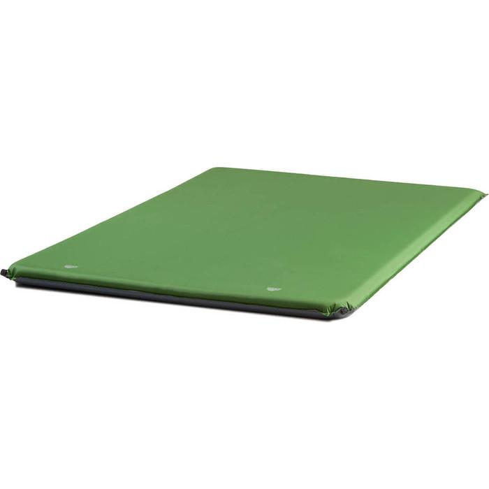Коврик самонадувающийся кемпинговый TREK PLANET Relax 70 Double, зеленый, 198х130х7 см