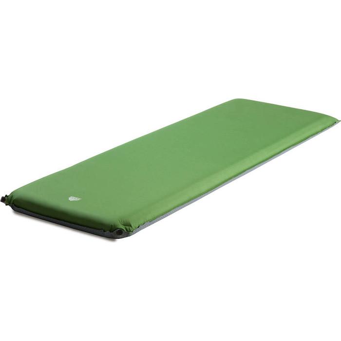 Коврик самонадувающийся кемпинговый TREK PLANET Relax 90, зеленый, 198х63,5х9 см