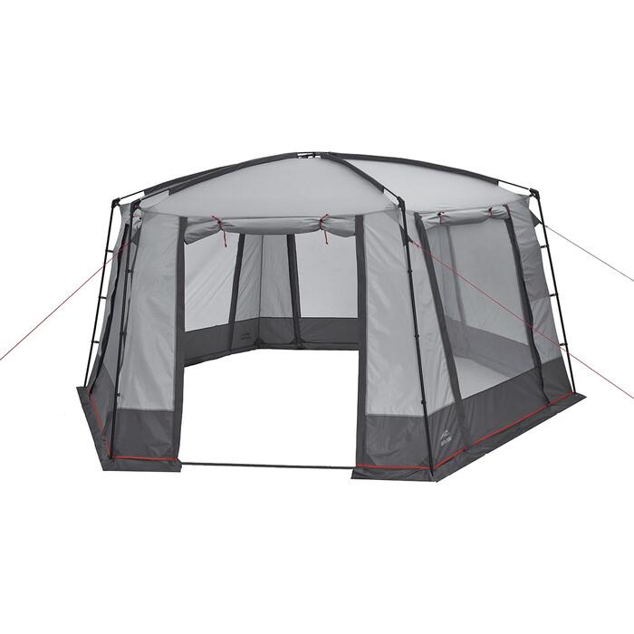 Шатер TREK PLANET Siesta Tent, шестиугольной формы, 460 см х 400 225 см, цвет серый/т. серый