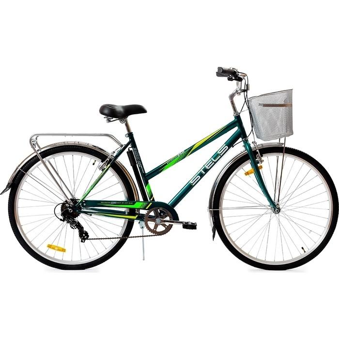 Велосипед Stels Navigator-350 Lady 28 (Z010) 20 морская волна (2018) (С КОРЗИНОЙ)
