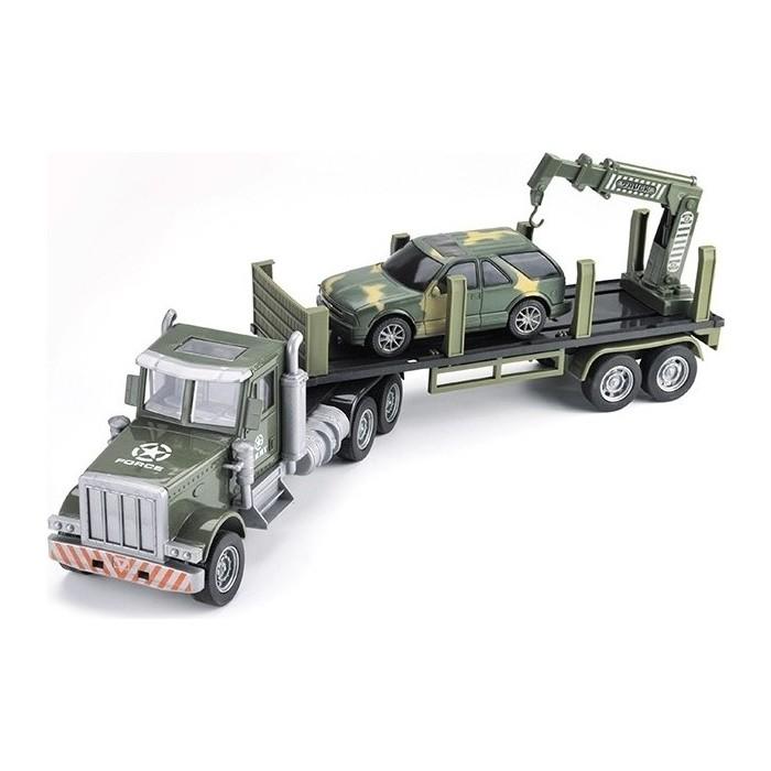 Радиоуправляемая машина Zhoule Toys грузовик-трейлер + джип CityTruck 1/24 - 552-B2