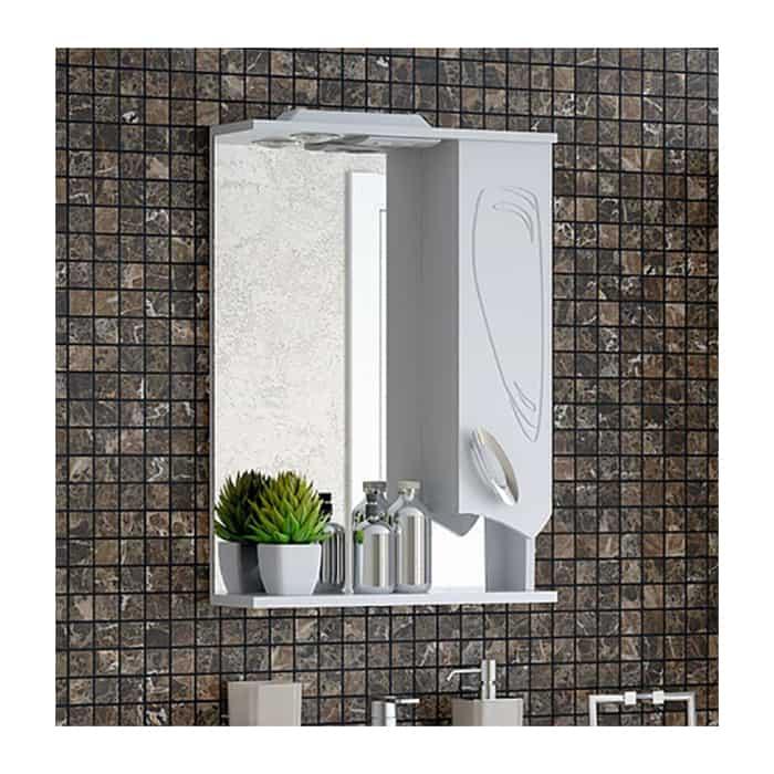Зеркальный шкаф Corozo Лидер 50/С белый (SD-00000293)